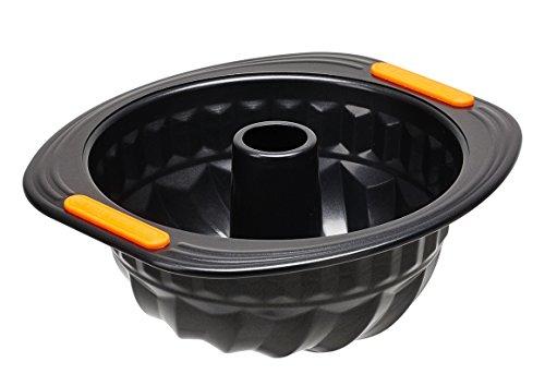 Le Creuset 94102422000000 Moule à Kougelhopf Acier Silicone Noir 22 cm