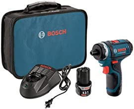 Bosch PS21-2A 12-Volt Max Lithium-Ion 2-Speed Pocket Driver Kit with 2 Batteries, Charger and Case