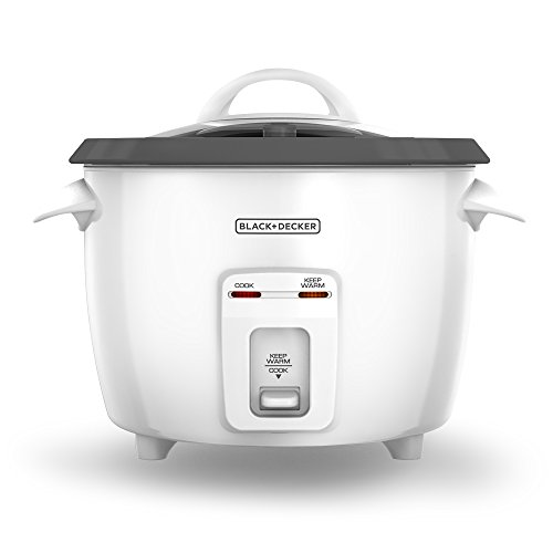 BLACK+DECKER RC3314W 8-Cup Dry/14-Cup Cooked Rice Cooker, White (Black And Decor Rice Cooker compare prices)