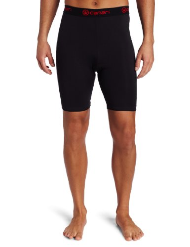 Buy Low Price Canari Cyclewear Men's M Gel Cycle Liner Padded Cycling Short (7303-BLACK)