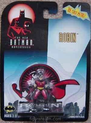 1997 Batman : The New Batman Adventures # Robin 1:64 Diecast Metal Figurine by Kenner - 1