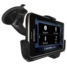 Motorola Vehicle Navigation Dock with Rapid Vehicle Charger for DROID BIONIC - Car Kit - Retail Packaging - Black