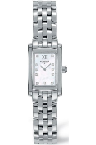Longines Dolce Vita Ladies Stainless Steel Mop Diamond Watch L5.158.4.84.6