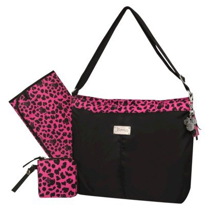 Disney Minnie Soft Fashion tote diaper bag fuschia/black - 1