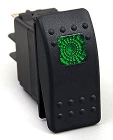 Daystar KU80012 20 Amp Green Light Rocker Switch Kit