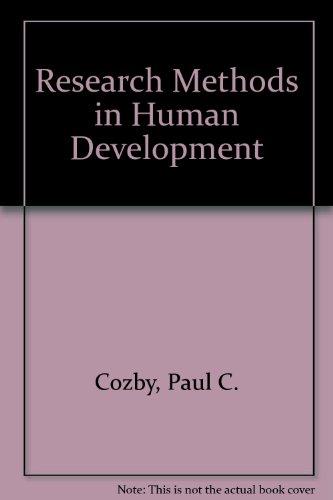 Research Methods in Human Development