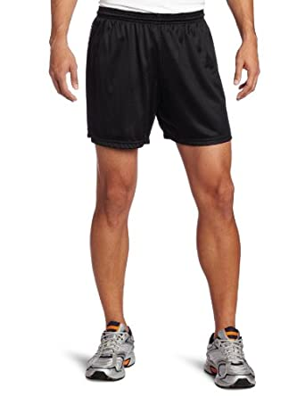 Soffe Men's Nylon Mini-Mesh Short, Black, Small