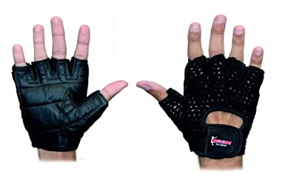 BOOM Pro Gym Gloves,Pure Cow Hide Hand Woven Fitness,Excercise Gloves,Weight Lifing from BOOM Pro