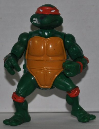 "Vintage Michaelangelo (1988) ""Hard Head"" (Spot on Nose)- Action Figure - Playmates - TMNT - Teenage Mutant Ninja Turtles Collectible Figure - Loose Out of Package & Print (OOP) - 1"