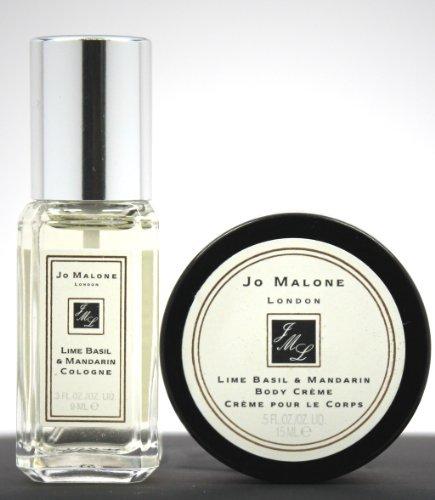 """Jo Malone discount duty free Jo Malone """"Lime Basil & Mandarin Cologne 0.3oz & Crème 0.5oz"""" Travel Size Set"""