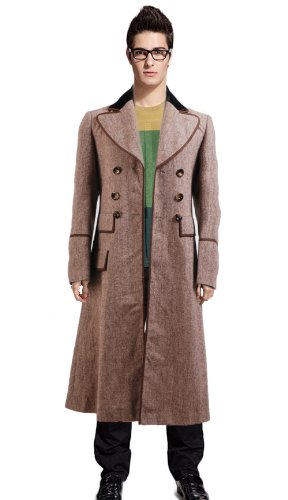 CosDaddy® Cosplay Costume Ecru Brown Long Trench Coat