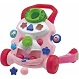 Logical Chicco Baby Steps Activity Walker Pink - Cleva Edition ChildSAFE Door Stopz Bundle