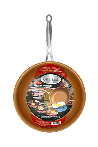 GOTHAM STEEL 9.5 inches Non-stick Titanium Frying Pan by Daniel Green (As Seen On Tv Cooking Products compare prices)