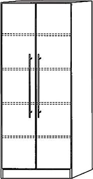 Armario Sólido cuerpo/frente Color: gris, Tipo de asa: Manillar