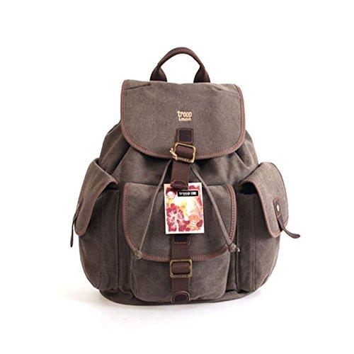 troop-london-trp-0268-unisex-casual-backpack-canvas-leather-vintage-travel-bag