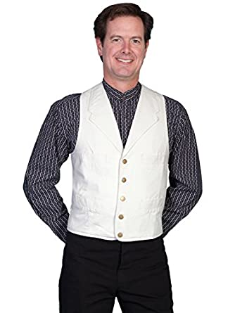 Men's Vintage Inspired Vests Cotton Canvas Vest - Natural  AT vintagedancer.com