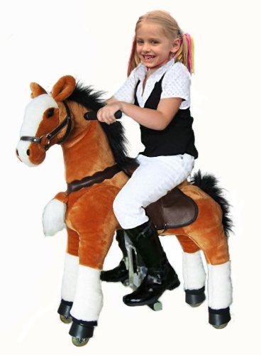 UFREE Ride on Toy Ponycycle, Medium Moving Rocking Horse, Giddyup, Go Go, Pony 34