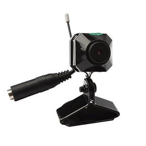 Mini camera cachée espion sans fil CMOS modèle C-100 A NTSC 2,4GHz 4CH 1/3po
