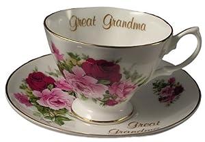 Great Grandma - gift Bone china cup and saucer