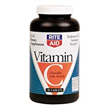 Rite Aid Vitamin C with Acerola 500 mg, Chewable Tablets 90 Ct.