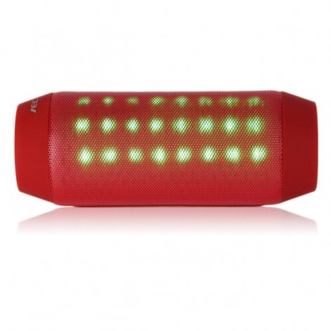 Bq-615 Wireless Bluetooth V3.0 Speaker W/ 3.5Mm / Micro Usb / Microphone / Fm / Tf/Colorful Light - Red