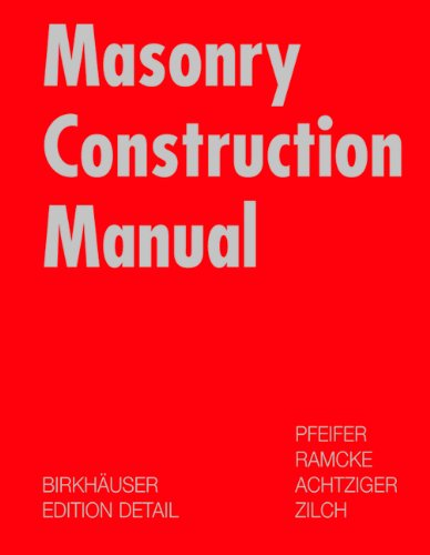Masonry Construction Manual