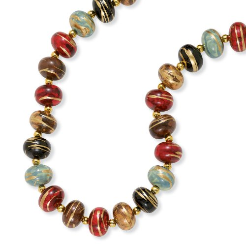 PalmBeach Jewelry Multi-Color Bead Necklace 30
