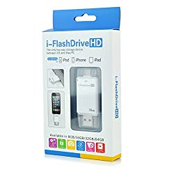 i Flash Drive 64GB Device U Disk With Extra USB Memory Storage For IPhone IPad Apple iPhone 5/iPhone 5S/iPhone 5C/iPad 4/iPad Air/iPad Mini/iPad Mini2/iPod Touch 5/iPhone 6/iPad 6