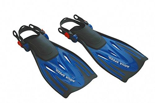 Aqua Speed® WOMBAT original Taucherflossen (Schwimmflossen Schnorchelflossen + UP®-SPLASH Badekappe)