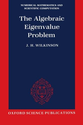 English easy ebook download The algebraic eigenvalue problem