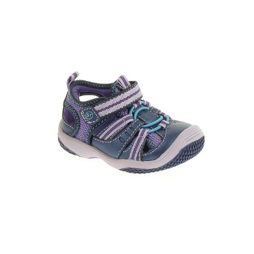 Stride Rite Petra Fisherman Sandal (Infant/Toddler),Navy/Purple,8 M Us Toddler front-453959