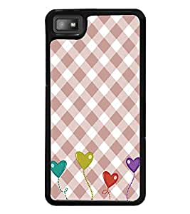 Hearts Pattern 2D Hard Polycarbonate Designer Back Case Cover for BlackBerry Z10
