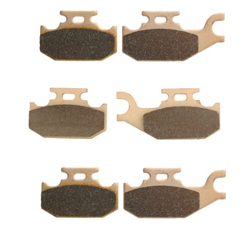 2003-2004 Bombardier Outlander 400 Sintered HH Front & Rear Brake Pads motorcycle front and rear brake pads for kawasaki kx250 1989 1993