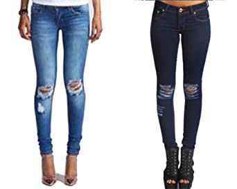 Skinny Ripped Jeans Uk - Jon Jean