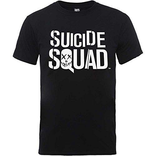 Suicide Squad logo mens t-shirt nera ufficiale del film Batman Harley Quinn