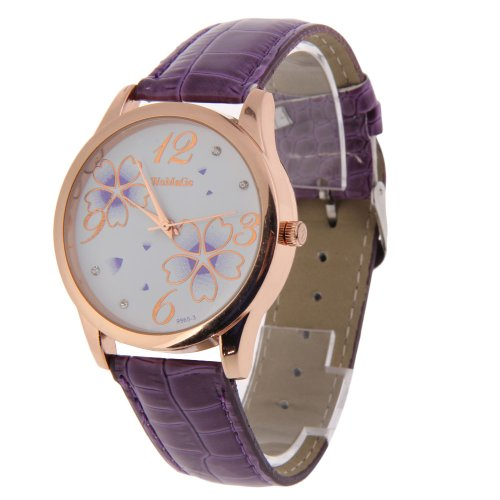 Buy 10 Ladies Wristwatches Flower Leather
