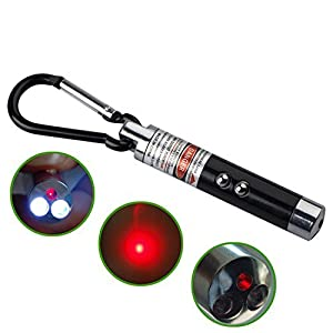 DIGIFLEX Lampe de poche porte-clé 2 en 1 LED et pointeur laser rouge noir