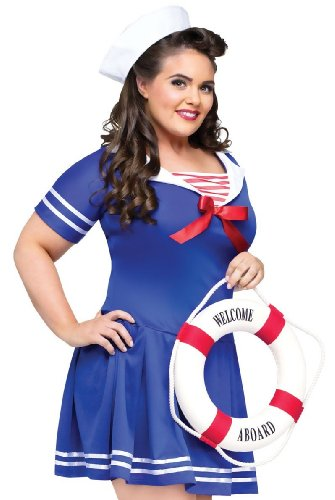 FunWorld Women's Anchors Away Adult Costume