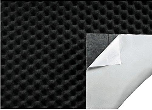 Hama-Schallschutzisolierung-Matte-fr-Auto-PC-oder-Subwoofer-Boxen-dmmender-Noppenschaum-selbstklebende-Schalldmmung-50-x-100-cm-Dicke-9-mm-24-mm-schwarz