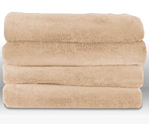 Amazon.com - Sunbeam Heated Plush Throw Blanket Washable with 3 ...