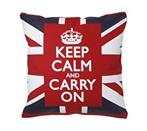 Union Jack Decorative Throw Pillow with Pillow Insert 18 Inch Cotton Canvas