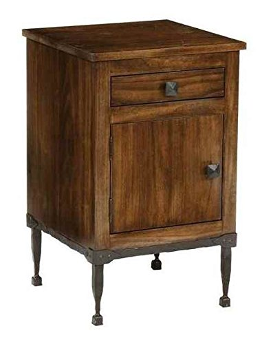 Forest Hill Linden End Table in Walnut Finish (Antique Copper)