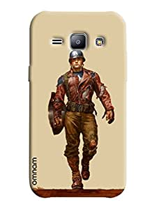 Omnam Soilder Printed Designer Back Cover Case for Samsung Glaxy J1