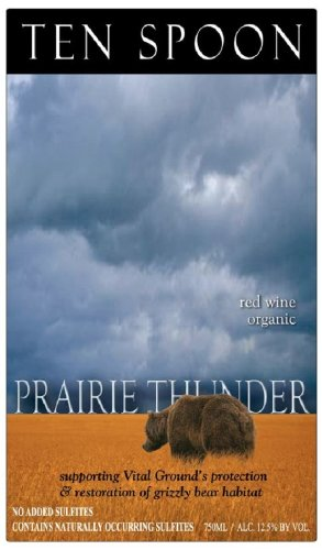 Nv Ten Spoon Prairie Thunder Syrah 750 Ml - Usda Organic - No Added Sulfites