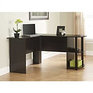 contemporary l shaped corner computer desk. Black Bedroom Furniture Sets. Home Design Ideas