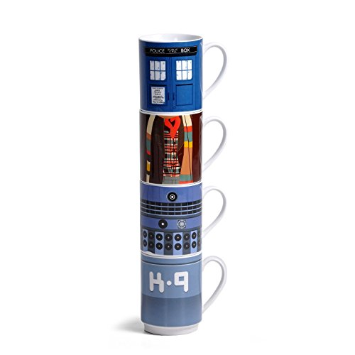 Doctor Who Set of 4 Stacking Mugss