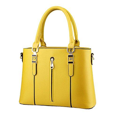 koson-man-womens-pu-leather-vintage-zipper-tote-bags-top-handle-handbagyellow