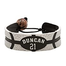 Tim Duncan Team Color NBA Jersey Bracelet
