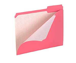 Pendaflex Color Reinforced Top File Folders, 3 Tab Positions, Letter Size, Pink, 100 Per Box (R152 1/3 PIN)