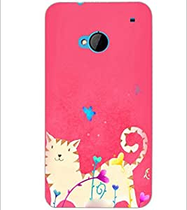 PrintDhaba Abstract Image D-3930 Back Case Cover for HTC ONE M7 (Multi-Coloured)